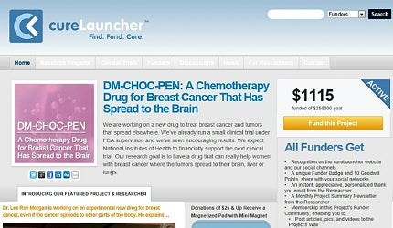 CureLauncher is a website dedicated to crowdfunding early-stage clinical development