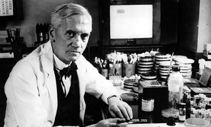 Alexander Fleming discovered the powerful antibiotic penicillin