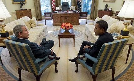 Obama and Bush