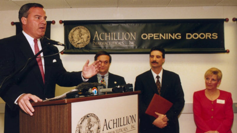Achillion Pharmaceuticals was founded as one of the largest bio-tech start-ups in the USA