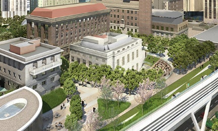 A two-acre extension at Rockefeller University campus will be named the Stavros Niarchos Foundation – David Rockefeller River Campus.