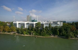 Image: Aerial view of Roche Basel from south with river Rhine, Switzerland. Photo: Courtesy of Roche.