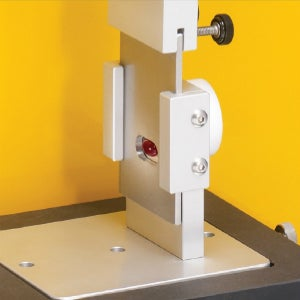 The Bi-Layer Shear Jig is a guillotine type device used to measure the force needed to separate the layers of a multi-layer tablet.