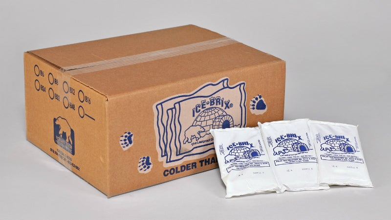 Ice packs and foam refrigerant bricks for packaging