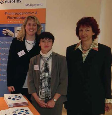 Eurofins Medigenomix's adventitious virus testing experts attend the Pathogen Safety Summit 2012; Dr Katrin Mansperger, Dr Birgit Ottenwälder and Dr Brigitte Obermaier