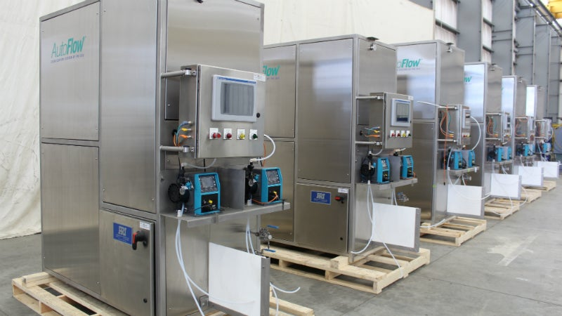 Treatment systems for biologically hazardous liquids