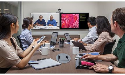 Polycom provides collaboration solutions to researchers and manufacturers.