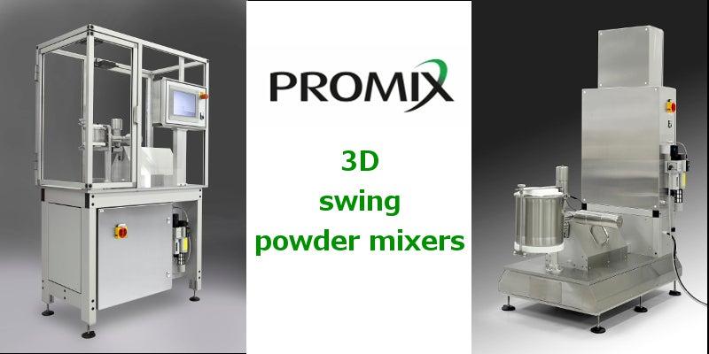3D swing powder mixers