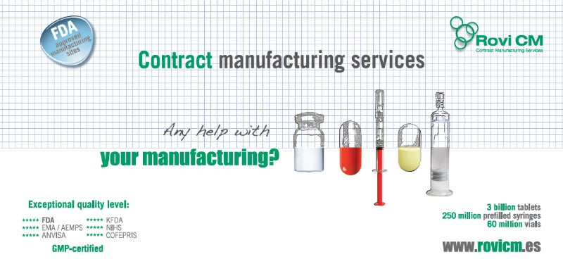 Contract manufacturing services for injectables