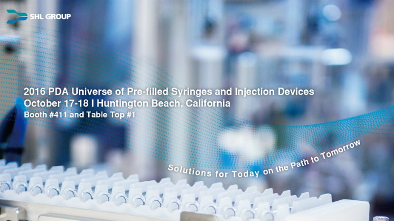SHL to Attend PDA Universe of Pre-filled Syringes and Injection Devices.