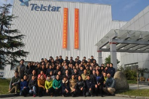 Telstar celebrates the tenth anniversary of its production plant in China.