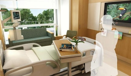 Private ward at Scripps Prebys Cardiovascular Institute, California
